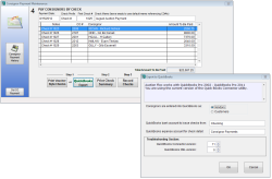 Consignor check quickbooks export